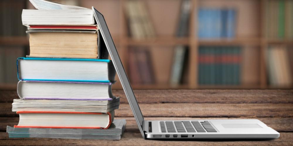 A random picture for books vs blogs